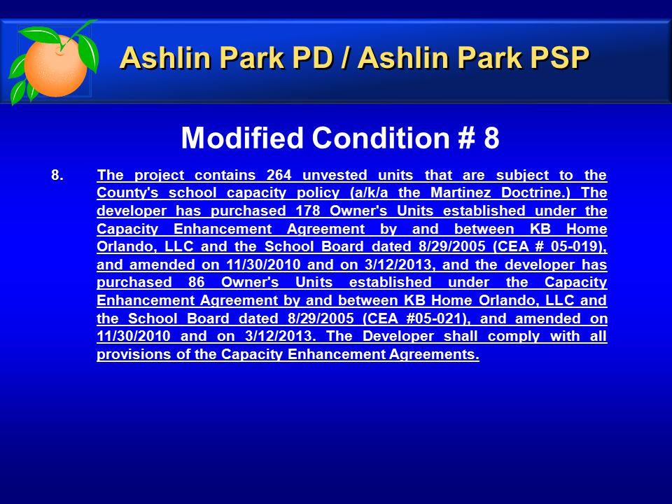 Modified Condition # 8 8.