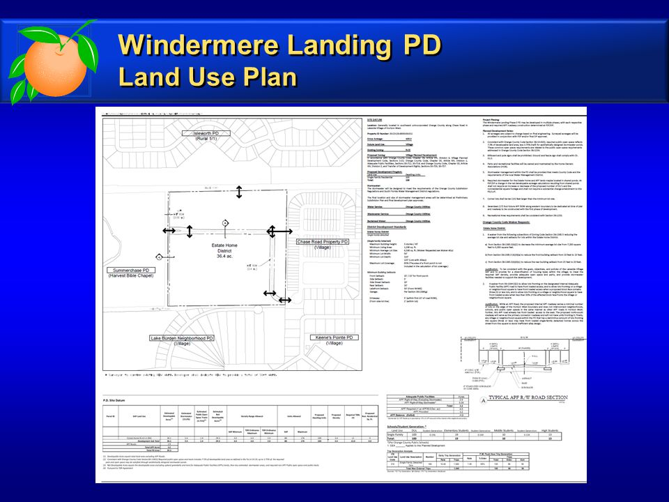 Windermere Landing PD Land Use Plan Windermere Landing PD Land Use Plan