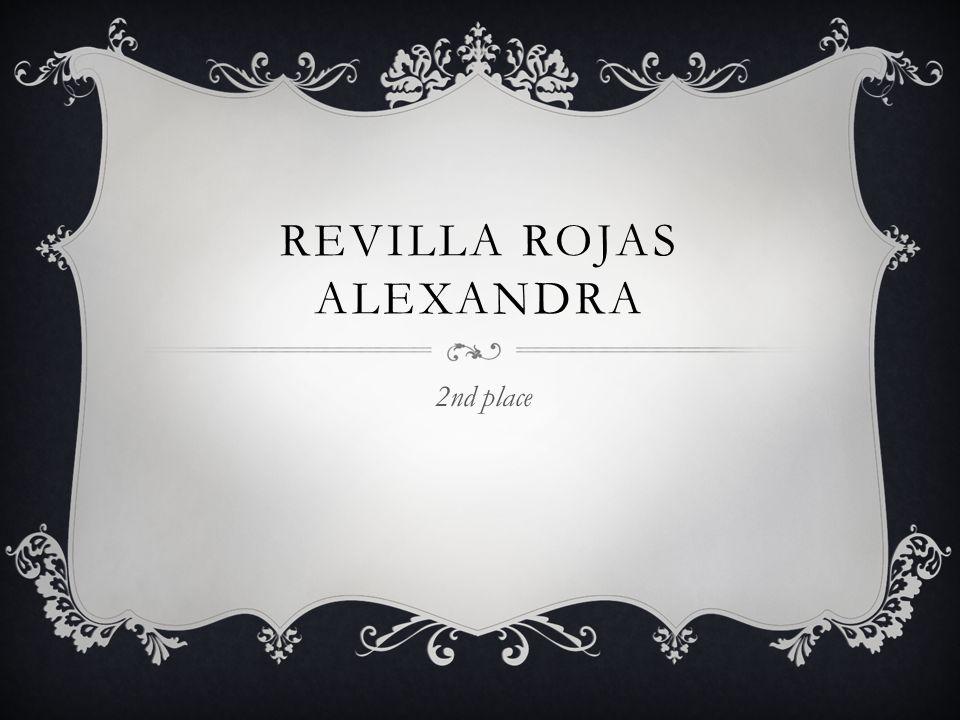 REVILLA ROJAS ALEXANDRA 2nd place