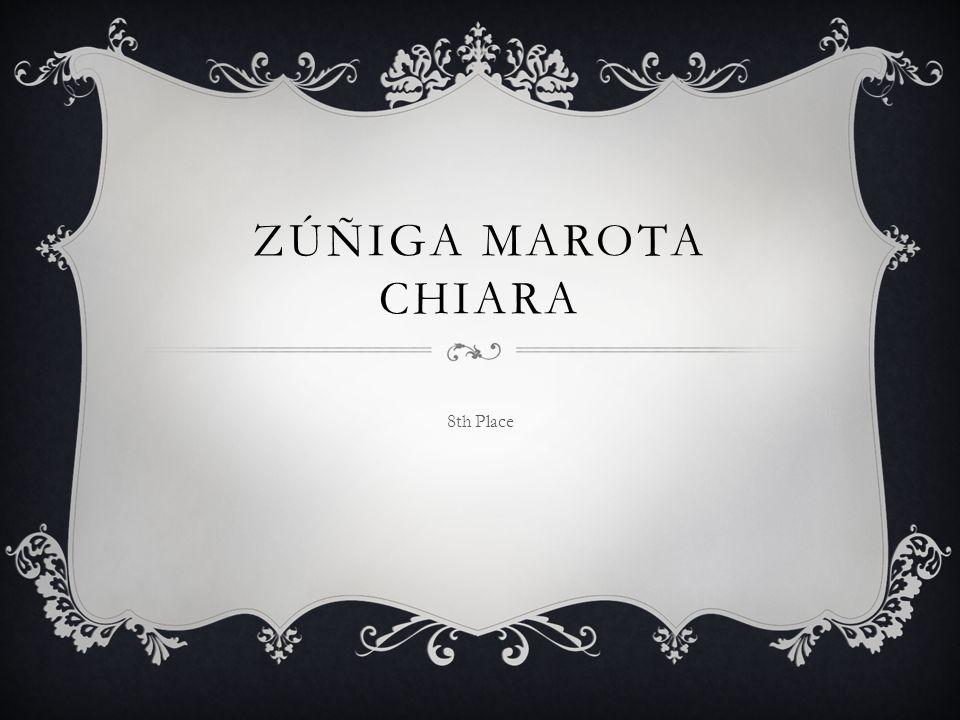 ZÚÑIGA MAROTA CHIARA 8th Place