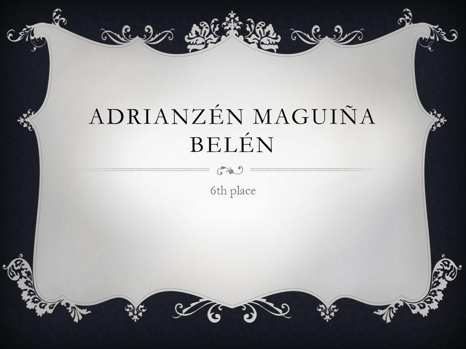ADRIANZÉN MAGUIÑA BELÉN 6th place