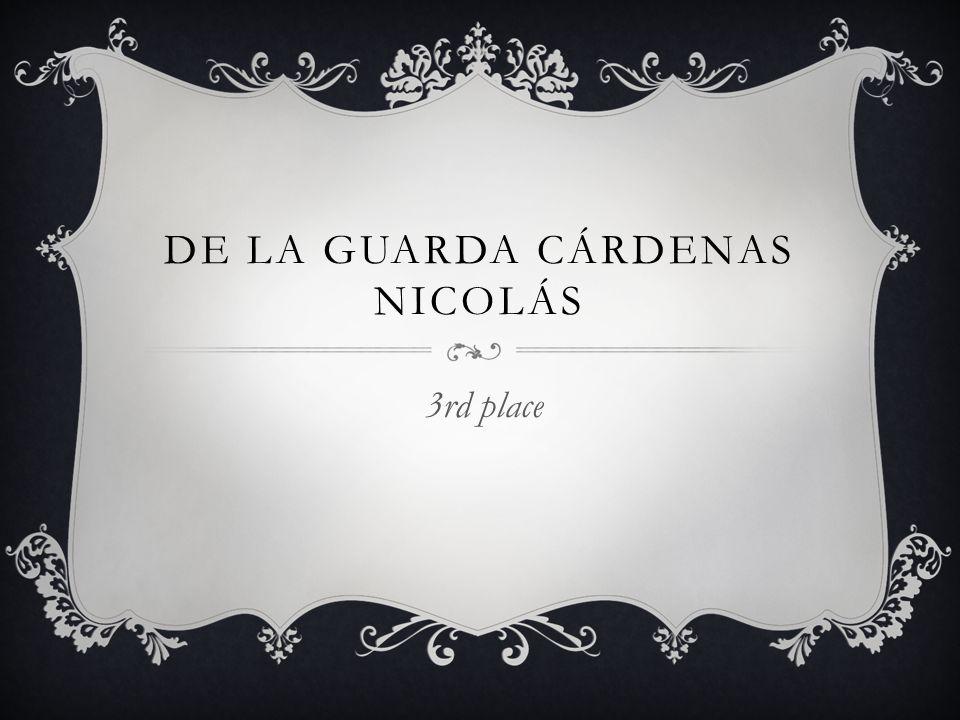 DE LA GUARDA CÁRDENAS NICOLÁS 3rd place