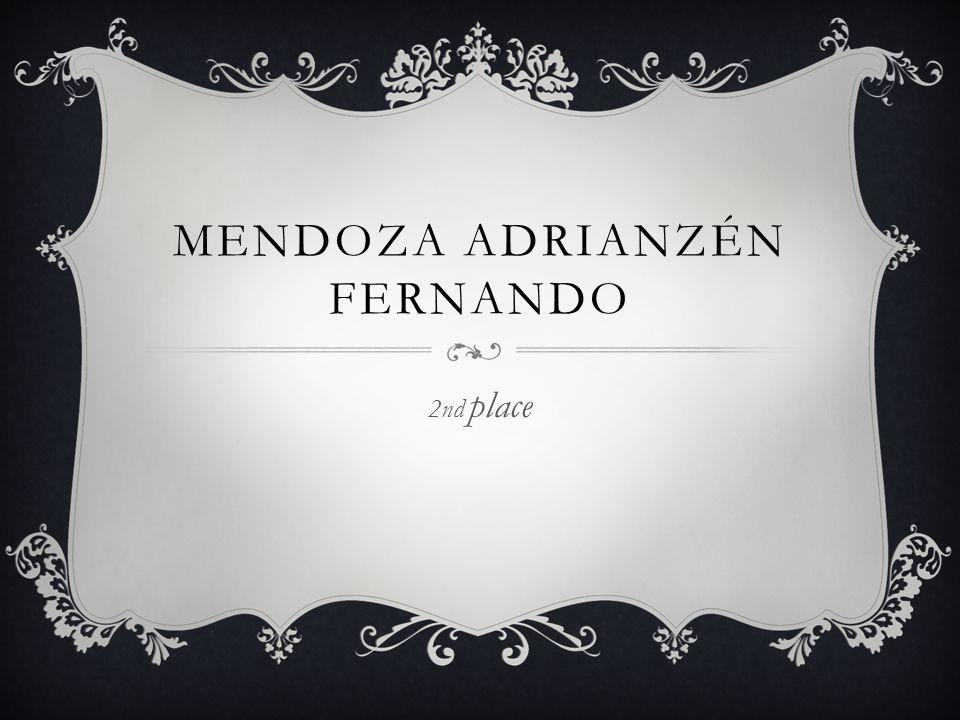 MENDOZA ADRIANZÉN FERNANDO 2nd place