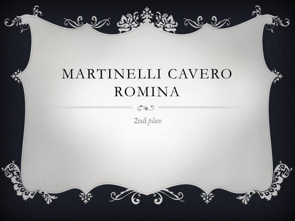 MARTINELLI CAVERO ROMINA 2nd place