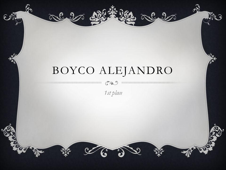 BOYCO ALEJANDRO 1st place