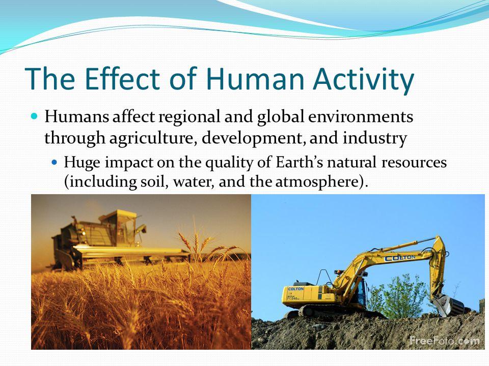 Impact of human activity