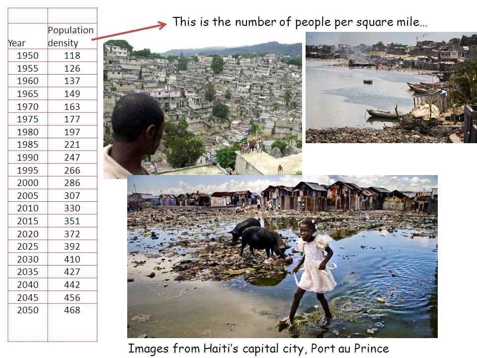 What are the EFFECTS of deforestation in Haiti.