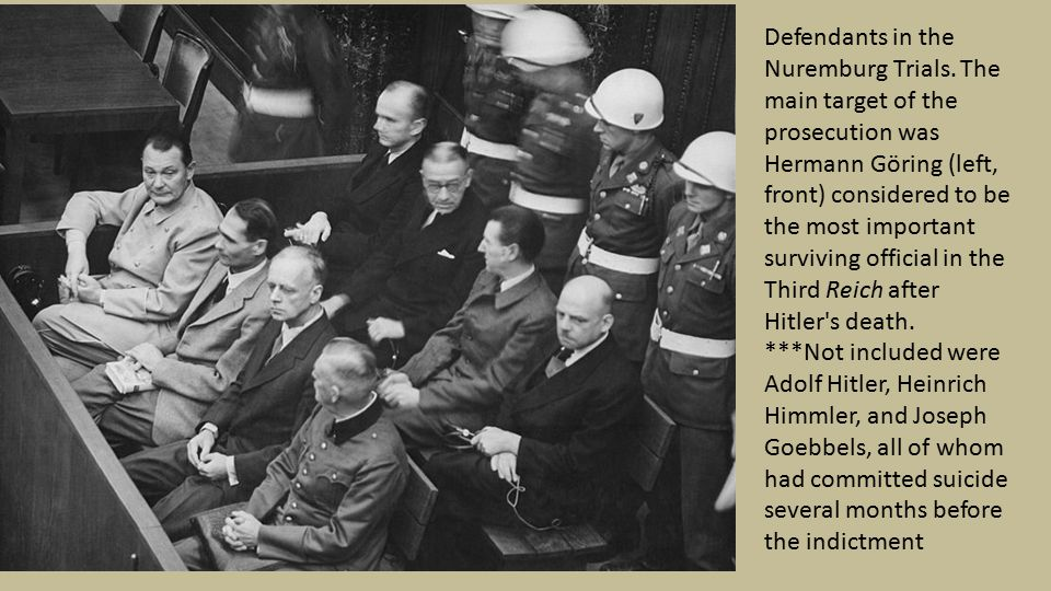 Defendants in the Nuremburg Trials.