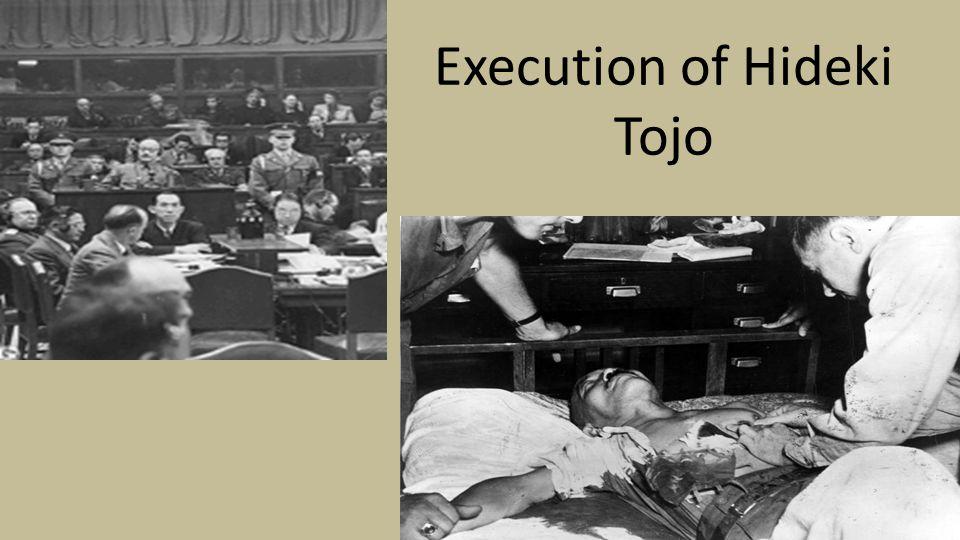 Execution of Hideki Tojo