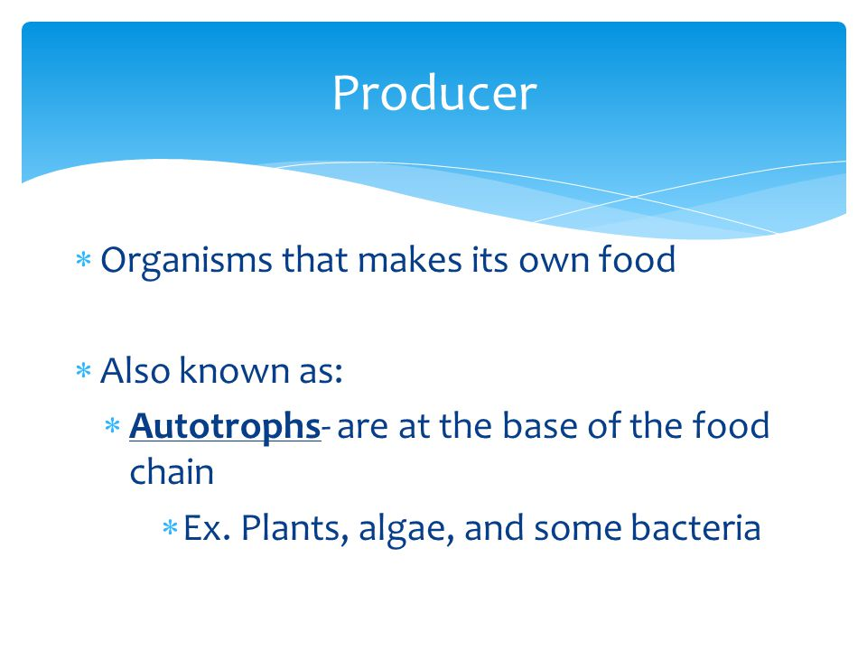  Organisms that get their energy from eating other organisms  Also known as: Heterotrophs Consumers