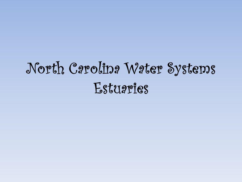North Carolina Water Systems Estuaries