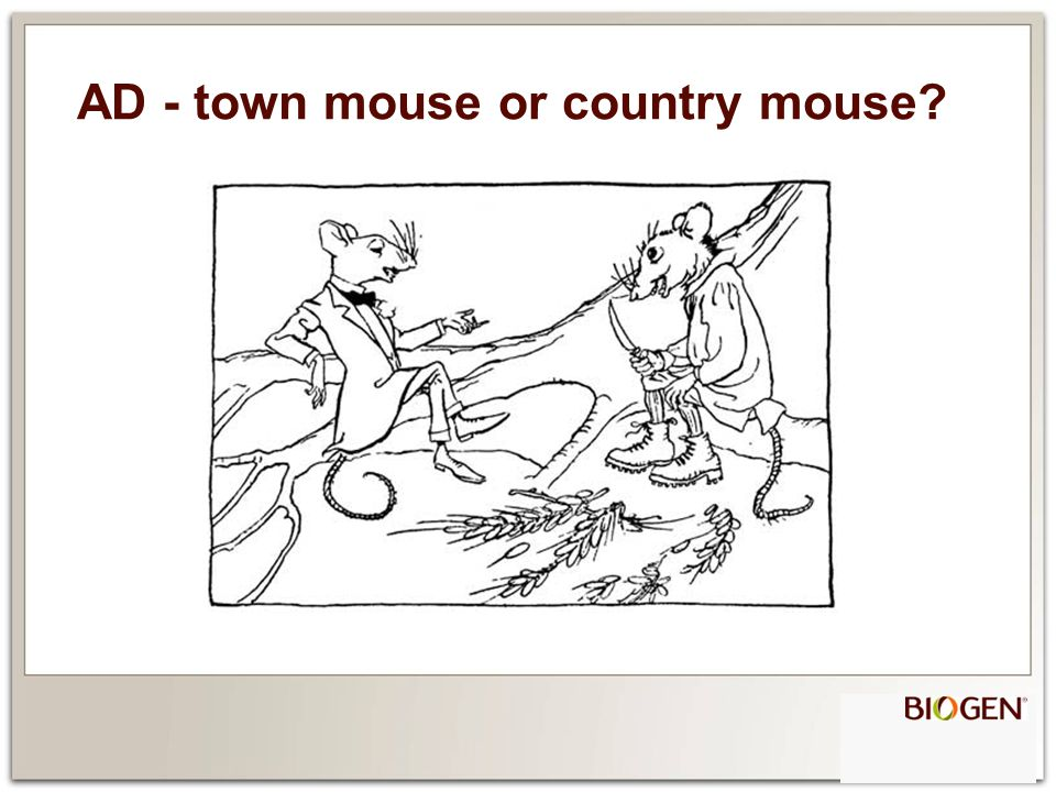 AD - town mouse or country mouse