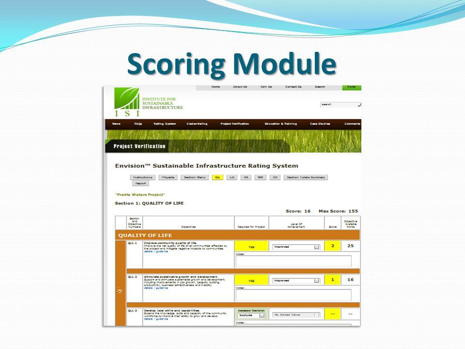 Scoring Module