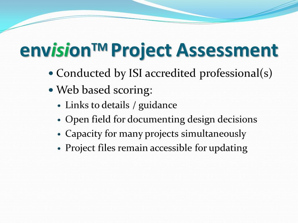 envision TM Project Assessment