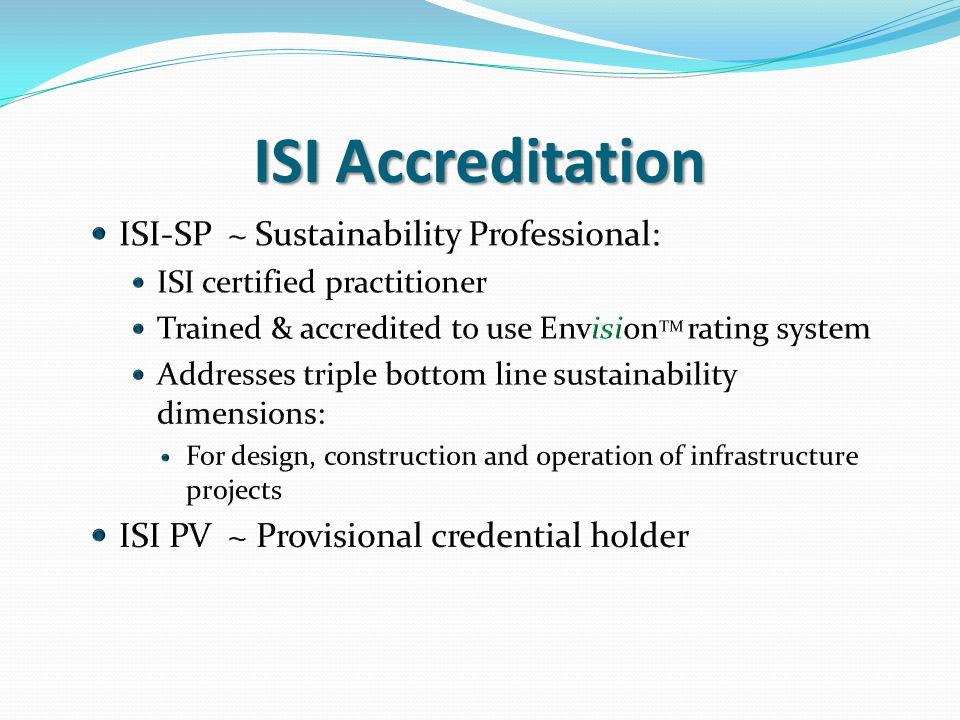 ISI Accreditation