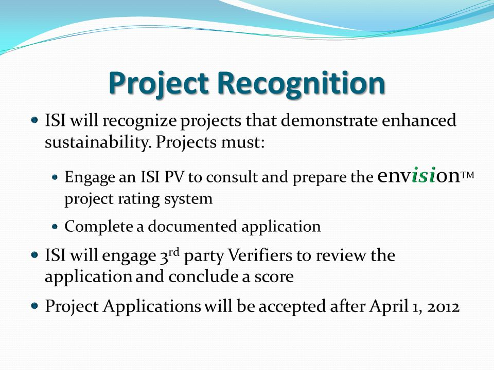 Project Recognition