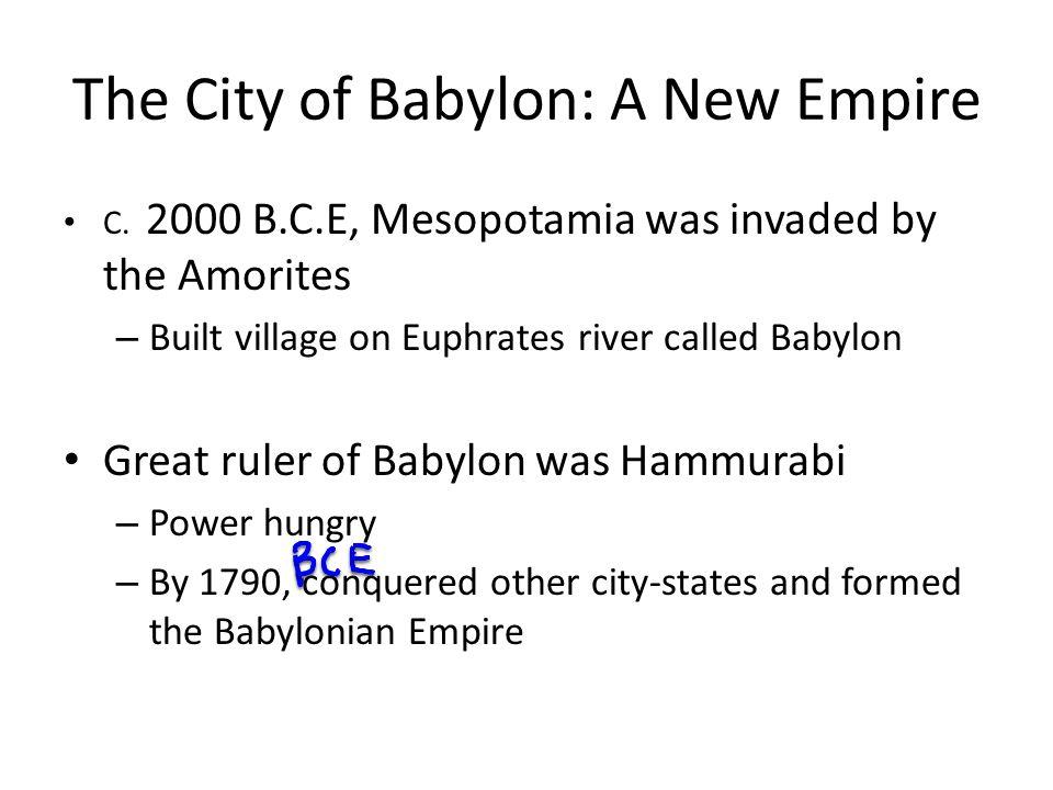 The City of Babylon: A New Empire C.