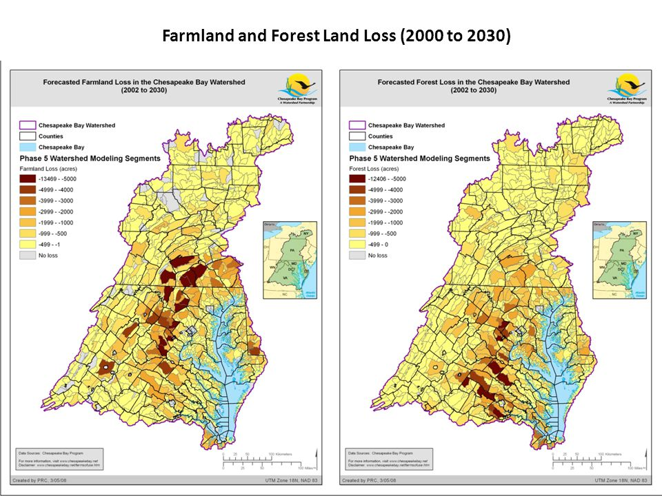27 Farmland and Forest Land Loss (2000 to 2030)