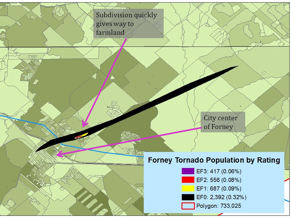 Subdivision quickly gives way to farmland City center of Forney