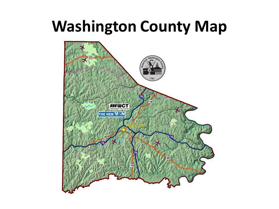 21. Washington County gave rise to what three counties? Allegheny, Greene, & Beaver Counties