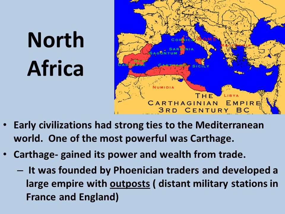 Roman Rule Territorial and trade rivalries developed between Carthage and the Roman Empire.