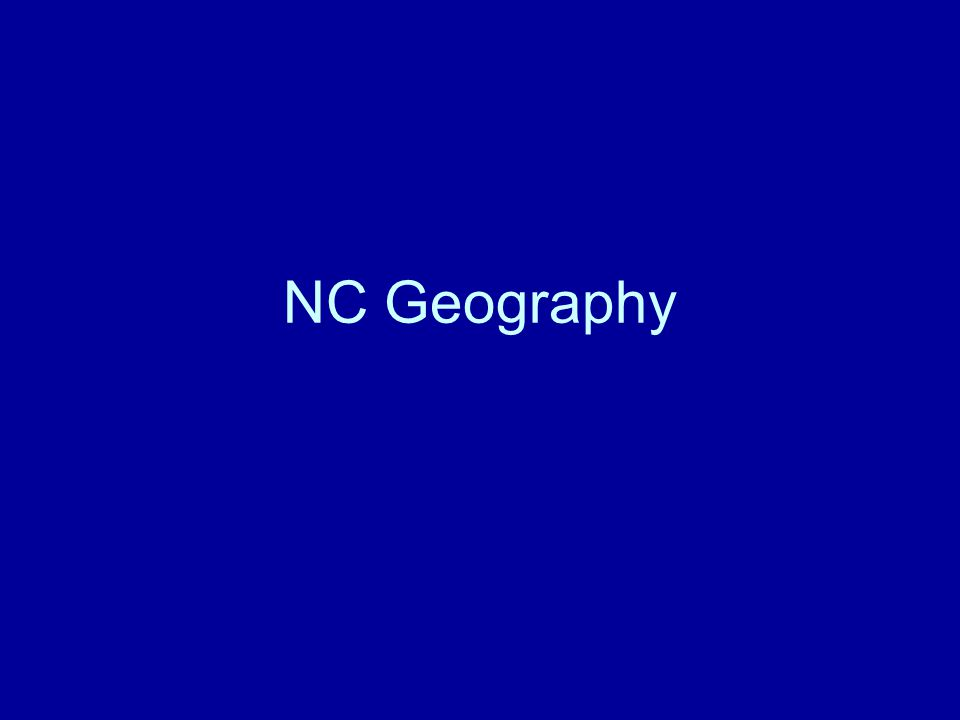 NC Geography