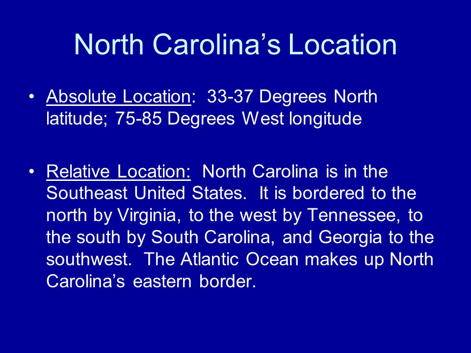 NC's Geographic Regions What is a geographic region? –An area of land with similar features