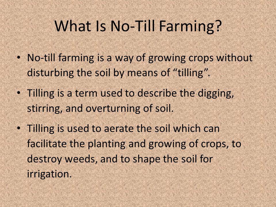 How Does No-Till Farming Affect Sediment Pollution.