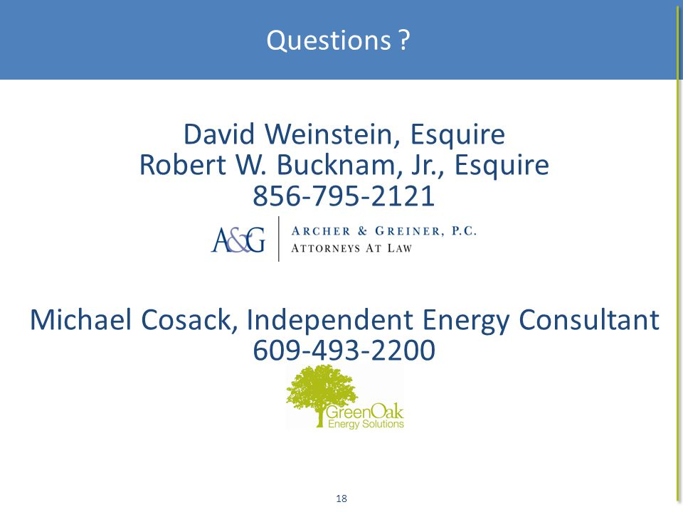 18 David Weinstein, Esquire Robert W.
