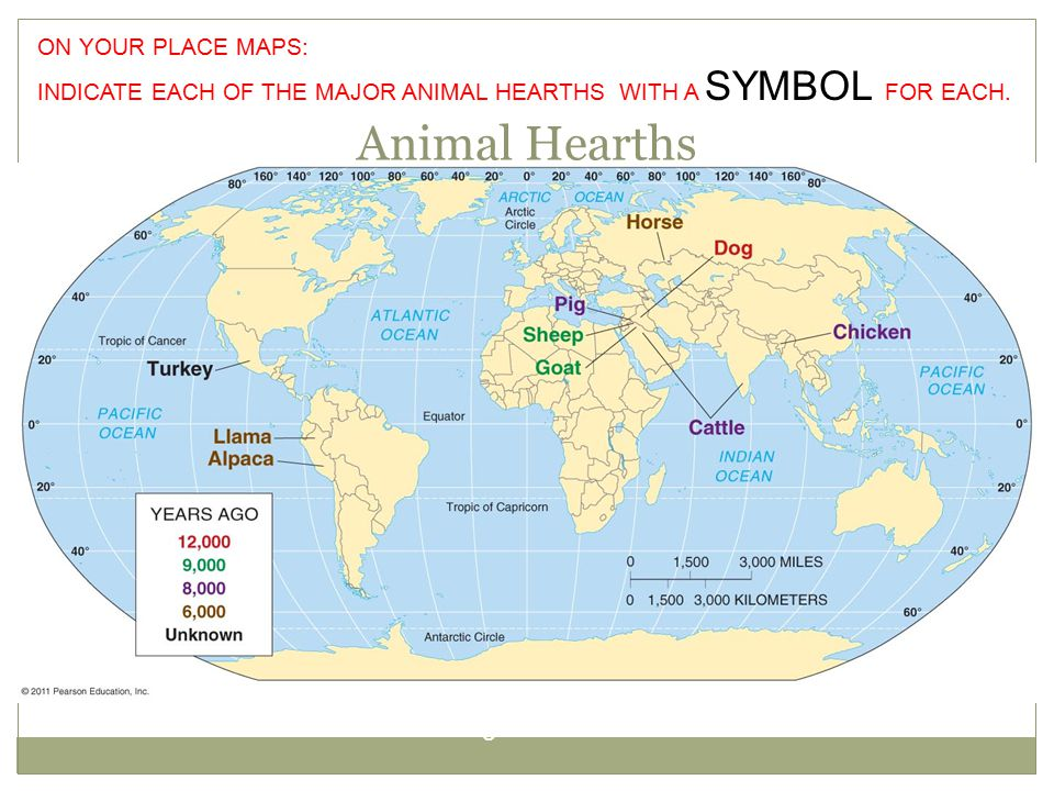 Animal Hearths Figure 10-3 ON YOUR PLACE MAPS: INDICATE EACH OF THE MAJOR ANIMAL HEARTHS WITH A SYMBOL FOR EACH.