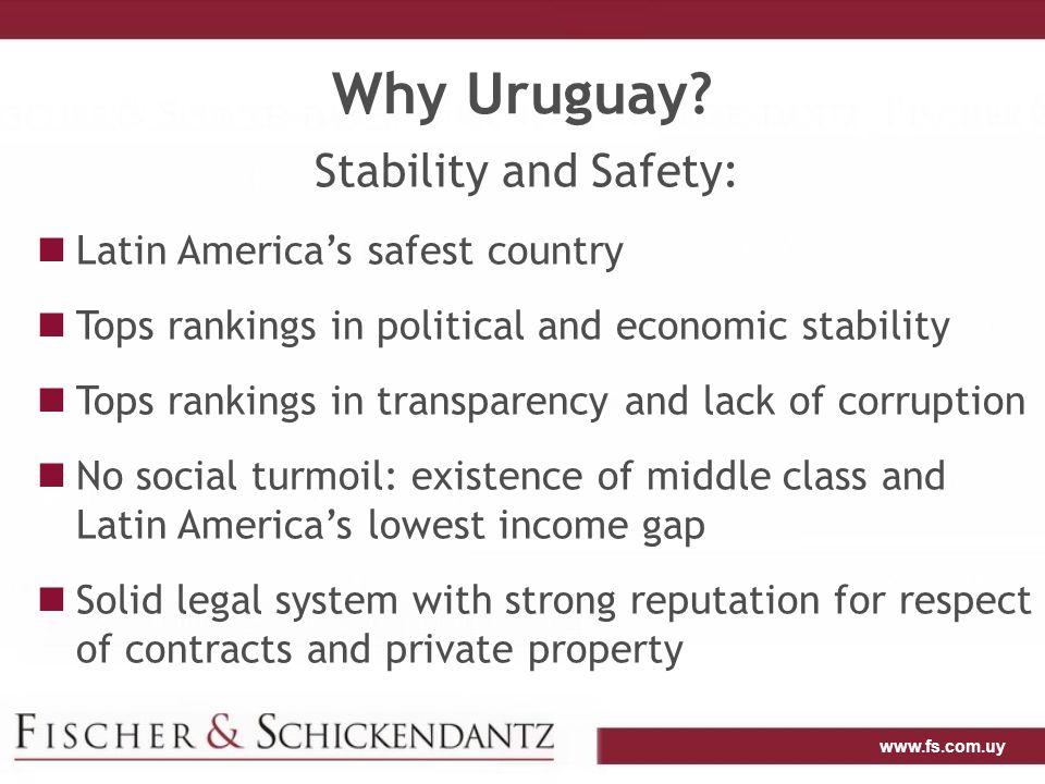 www.fs.com.uy Why Farmland in Uruguay.