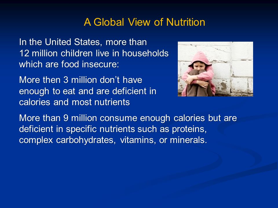 Quiz #6: Select one of the following countries and list five causes of food insecurity or malnutrition in that country.