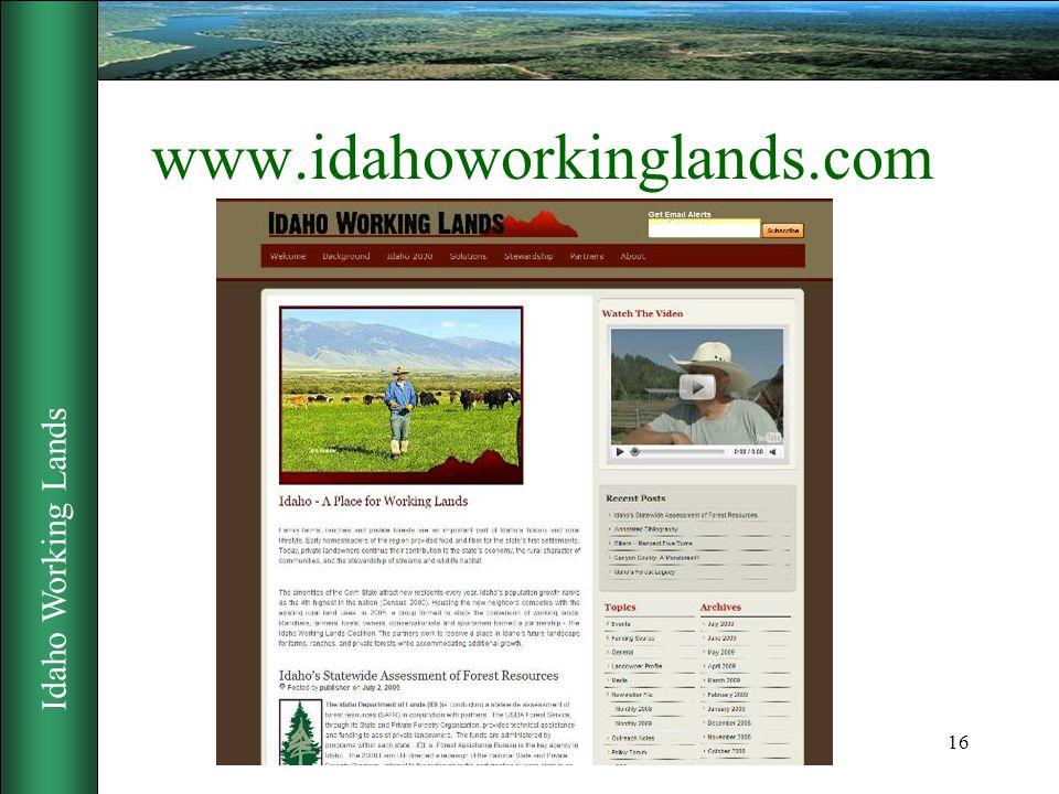 Idaho Working Lands 16 www.idahoworkinglands.com
