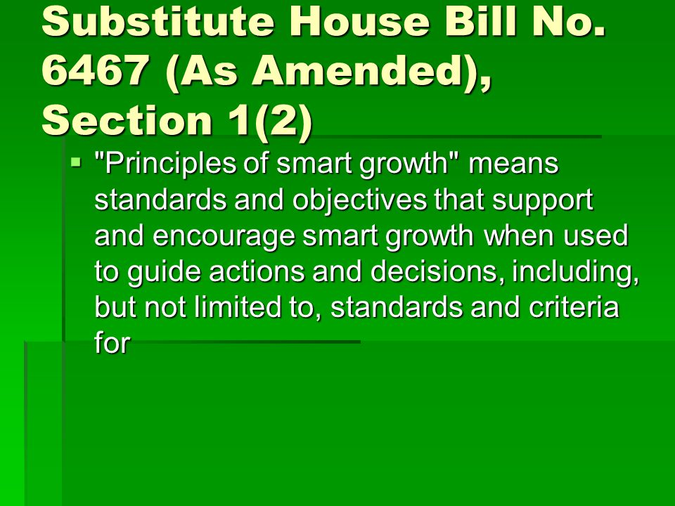 Substitute House Bill No.