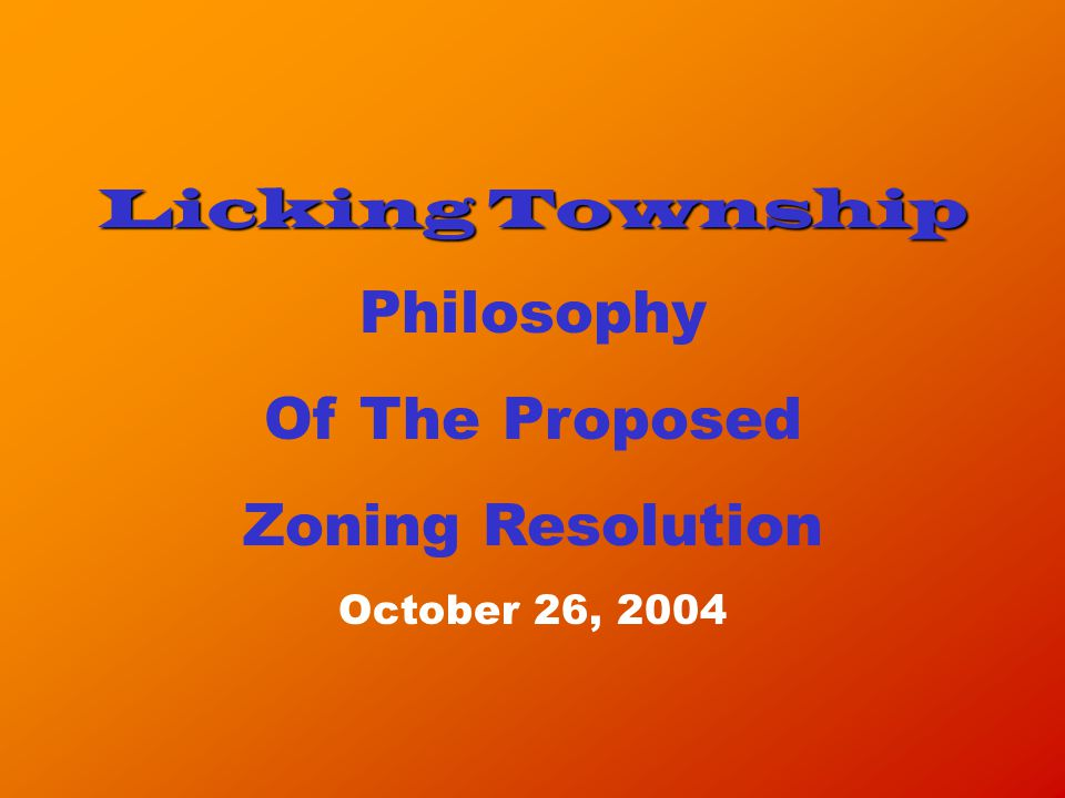 What Licking Township Can Expect To Happen Regarding Projected Growth.