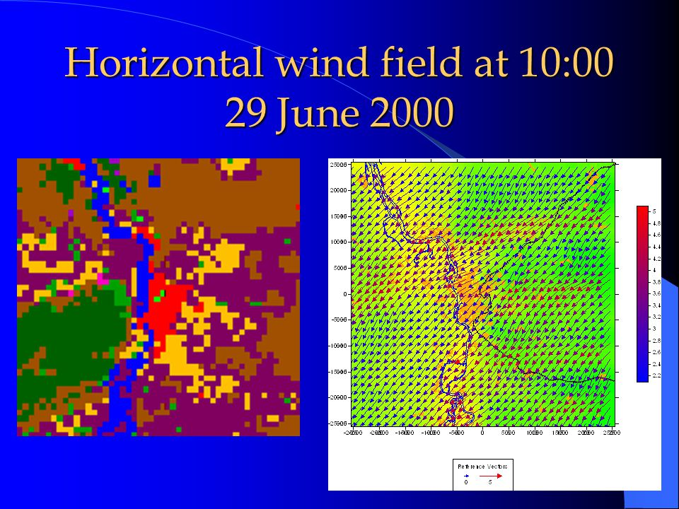 Vertical wind field at 10:00 26 June 200015 August 2000