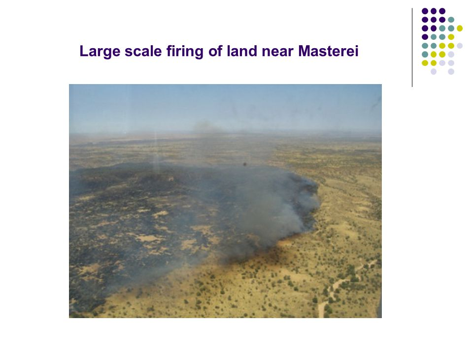 Large scale firing of land near Masterei