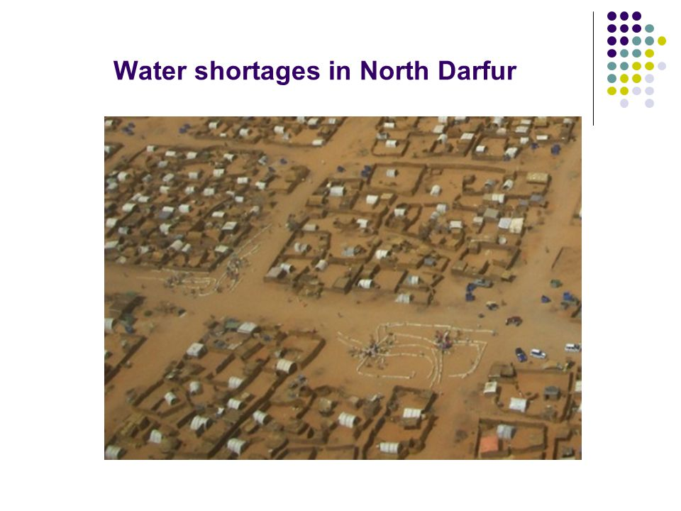 Water shortages in North Darfur