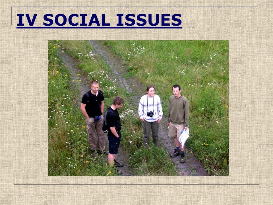 IV SOCIAL ISSUES