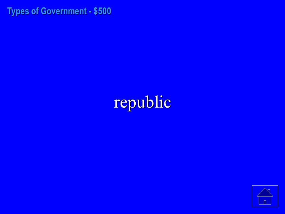 Types of Government - $400 republic