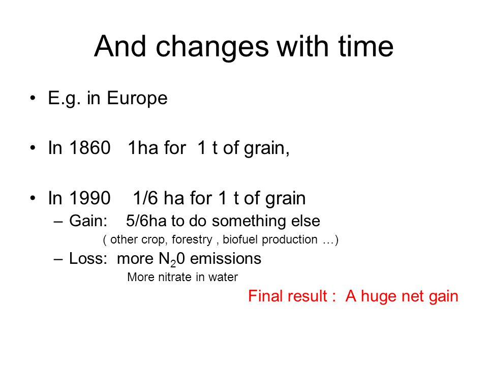And changes with time E.g.