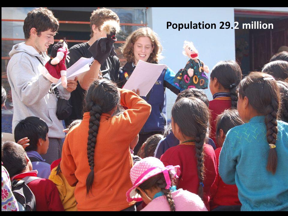 Population 29.2 million