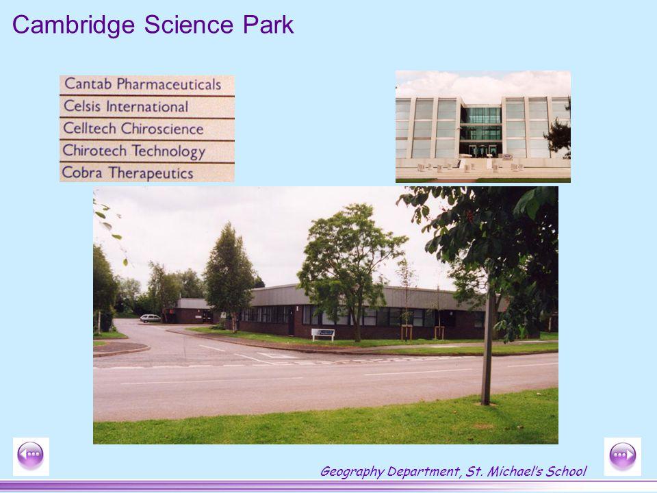 Geography Department, St. Michael's School Cambridge Science Park
