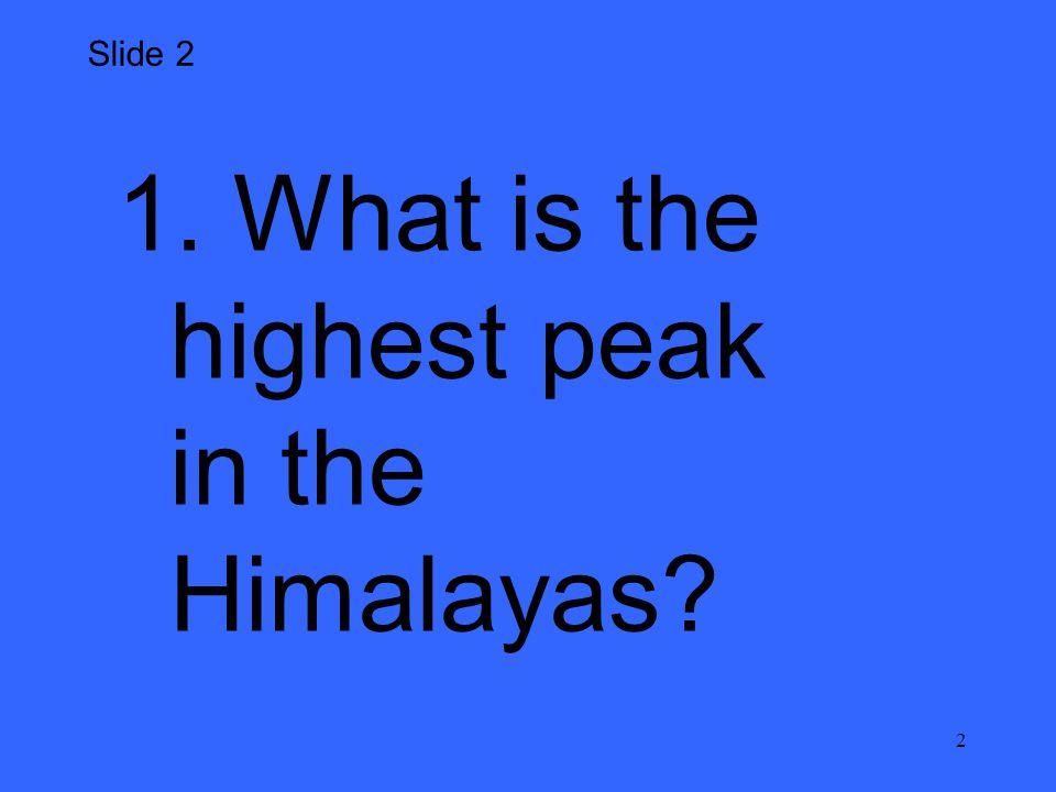 3 1. Mount Everest