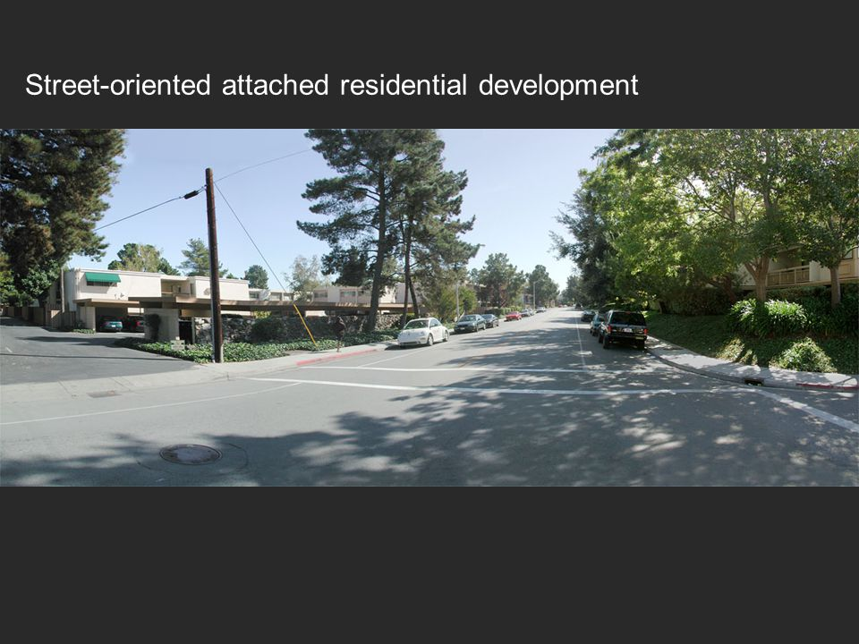 Street-oriented attached residential development