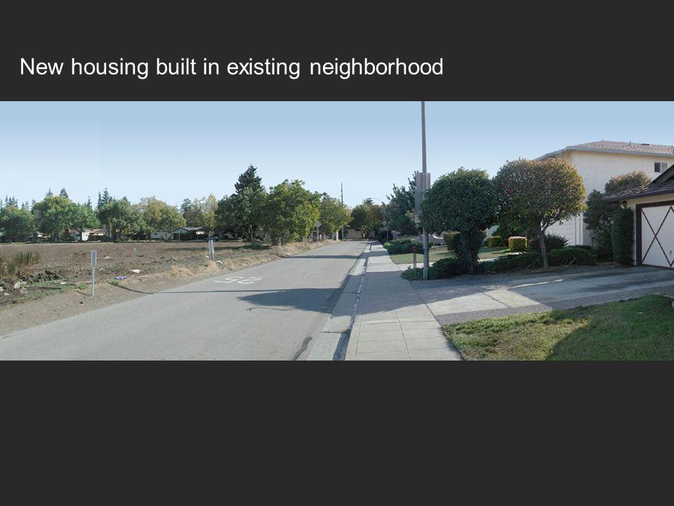 New housing built in existing neighborhood