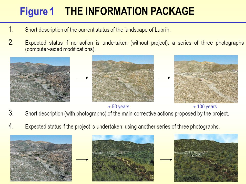 THE INFORMATION PACKAGE 1. Short description of the current status of the landscape of Lubrín.