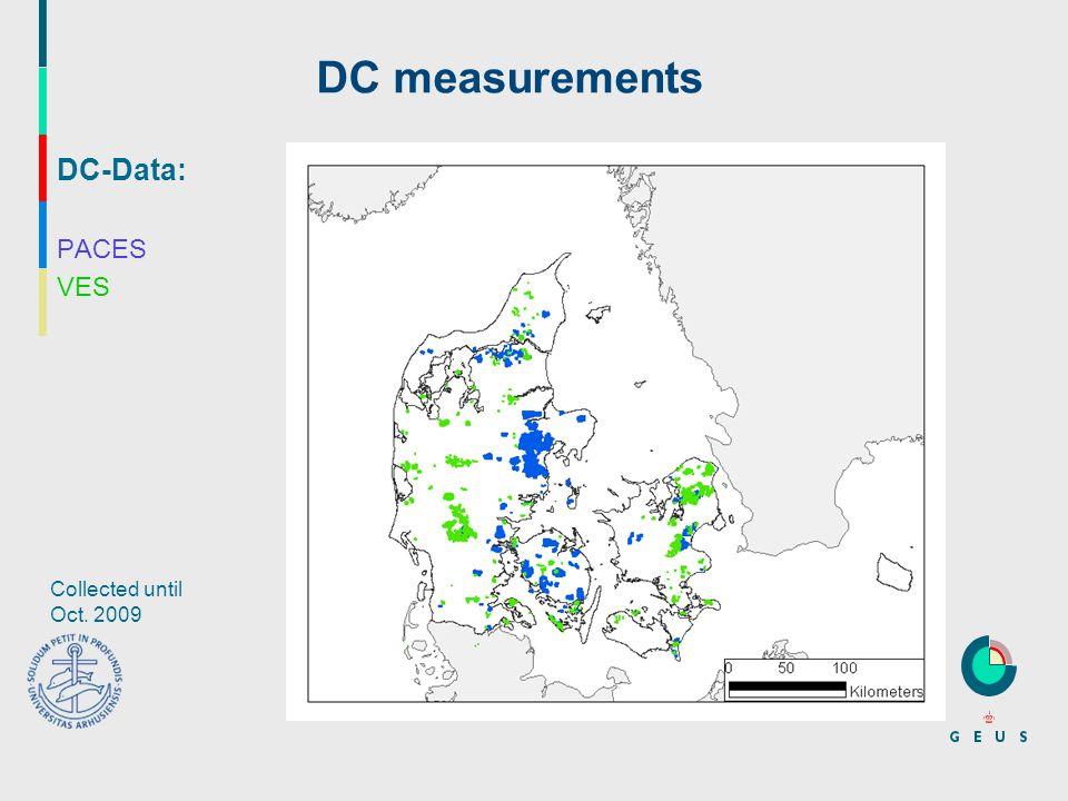 DC-Data: PACES VES DC measurements Collected until Oct. 2009