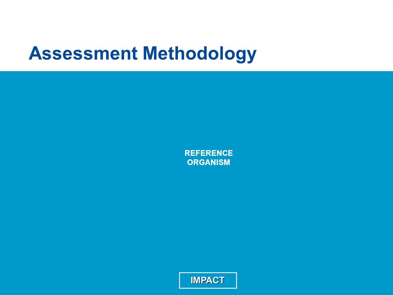 Assessment Methodology REFERENCE ORGANISM IMPACT