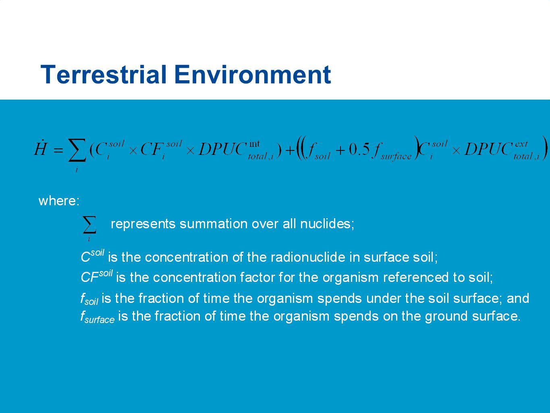 Terrestrial Environment